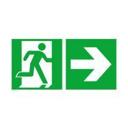 Izlaz u nuždi desno sa stelicom prema desno