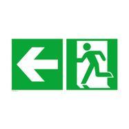 Izlaz u nuždi lijevo sa stelicom prema lijevo