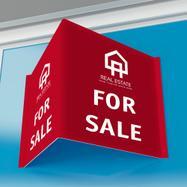 Natp. ploča za trgovce nekretninama s pločom od PP