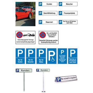Plastični znak za parkiralište i za zabranu zaustavljanja