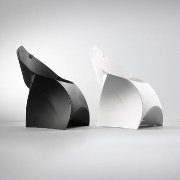 Flux Chair - Sklopiva stolica, tamnosiva