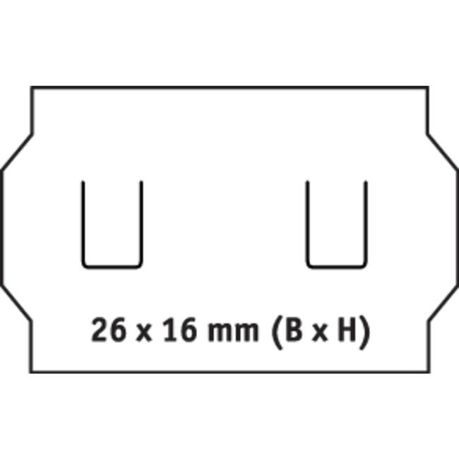 Etikete za aparat za etiketiranje, s dva reda