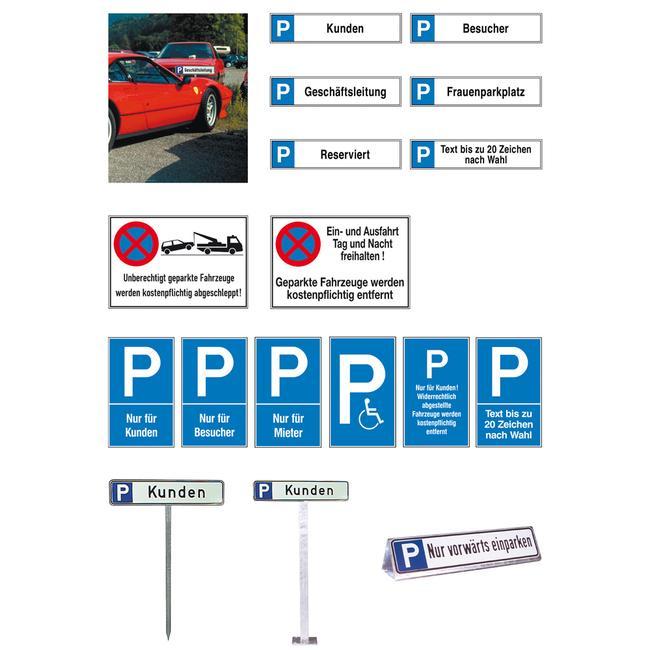 Aluminijski znak za parkiralište i za zabranu zaustavljanja