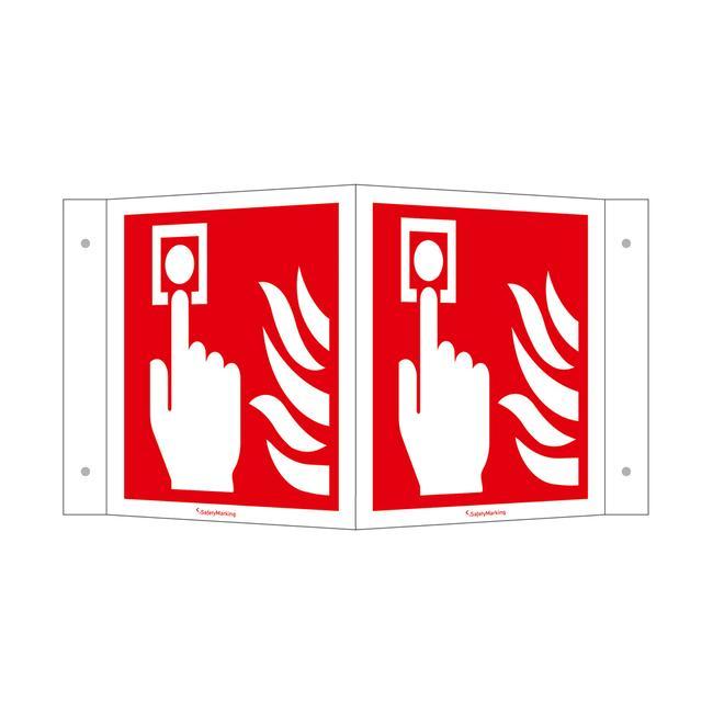 Dojavljivač požara (ručni) - kutna natpisna ploča