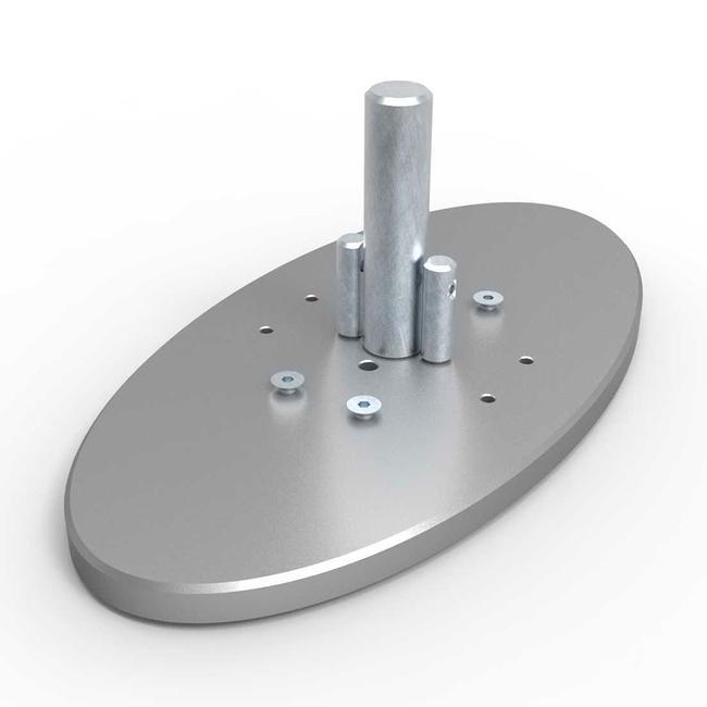 """Ovalno postolje za aluminijsku vodilicu za keder """"Quattro"""""""