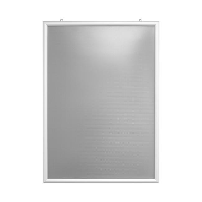 Dvostrani klik-klak okvir, 25 mm profil, srebrno eloksirano, s kosim ugaonim spojem (45°)