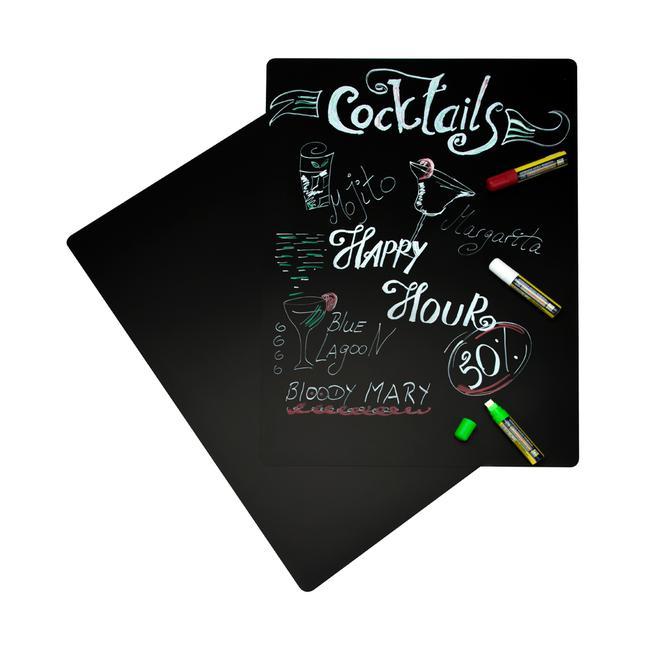Set s crnom pločom za pisanje kredom