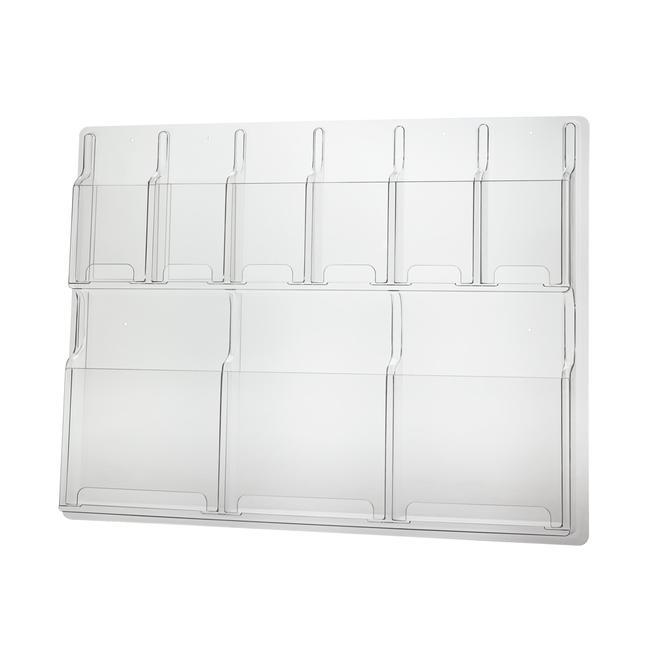"""Zidni držač za prospekte """"Delux"""" 3x DIN A4 i 6x 1/3 DIN"""