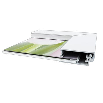 "Klik-klak okvir ""Straight"", 32 mm profil, srebrno eloksiran, s kosim ugaonim spojem (45°)"