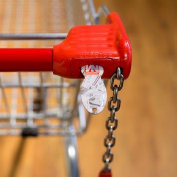 Johann - žeton za kolica za kupovinu